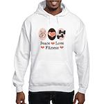 Peace Love Fitness Hooded Sweatshirt