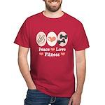 Peace Love Fitness Dark T-Shirt