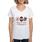 Peace Love Fitness Women's V-Neck T-Shirt