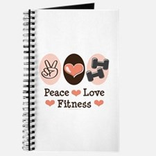 Peace Love Fitness Exercise Food Journal Diary