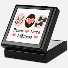 Peace Love Fitness Keepsake Box