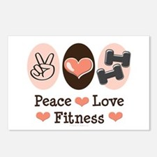Peace Love Fitness Postcards (Package of 8)