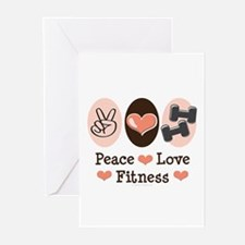 Peace Love Fitness Greeting Cards (Pk of 20)