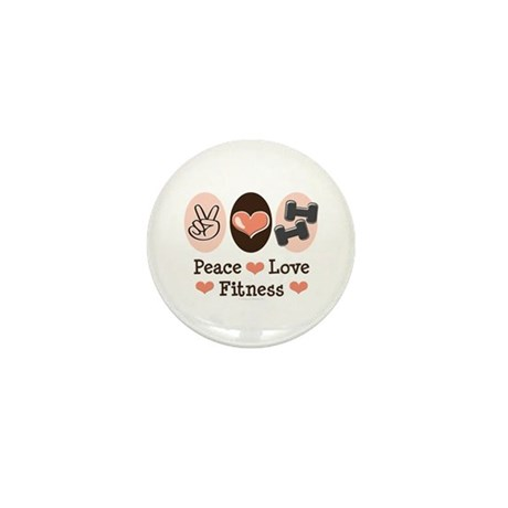Peace Love Fitness Mini Button (10 pack)