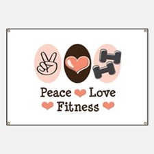 Peace Love Fitness Banner