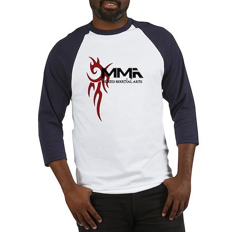 MMA Tribal Tattoo Logo Red Baseball Jersey