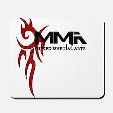 MMA Tribal Tattoo Logo Red Mousepad