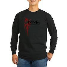 MMA Tribal Tattoo Logo Red T