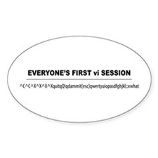 vi Session Oval Decal