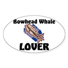 Bowhead Whale Lover Oval Sticker