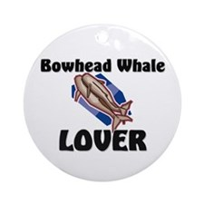 Bowhead Whale Lover Ornament (Round)