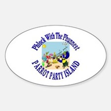 Parrot Party Oval Decal