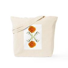 Golden Poppy Flower Tote Bag