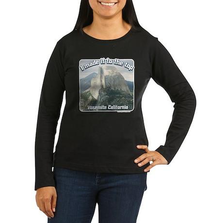 I made it Yosemite Women's Long Sleeve Dark T-Shir