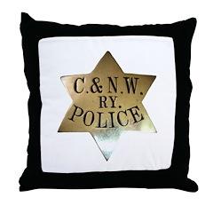 C & N.W. Ry. Police Throw Pillow