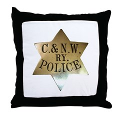 C & N.W. Ry. Police Throw Pillow