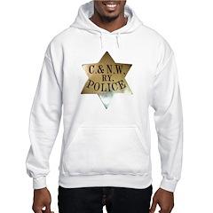 C & N.W. Ry. Police Hooded Sweatshirt