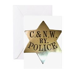 C & N.W. Ry. Police Greeting Cards (Pk of 20)