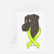 NBlk Chartreuse Ribbon Greeting Card