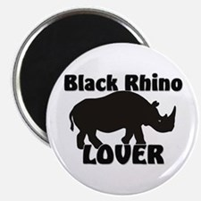 Black Rhino Lover Magnet