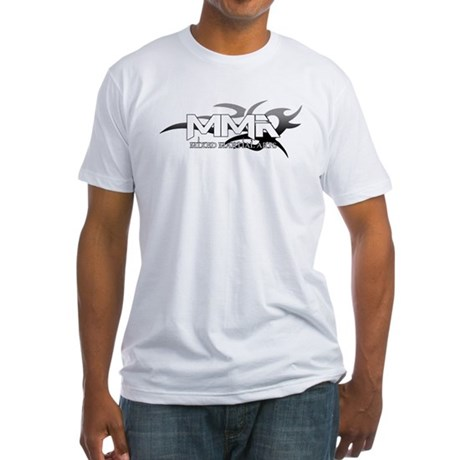 MMA Tribal Logo Grey Fitted T-Shirt