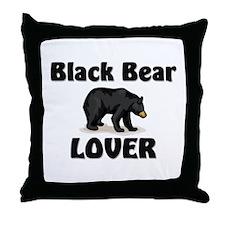 Black Bear Lover Throw Pillow