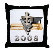 Vet Grad 2008 Throw Pillow