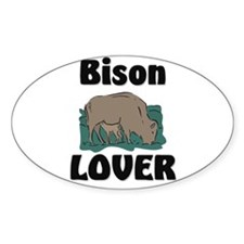 Bison Lover Oval Decal