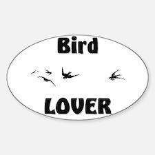 Bird Lover Oval Decal