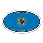 South Dakota State Flag Oval Sticker