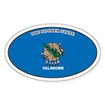 Oklahoma State Flag Oval Sticker