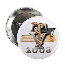 """2008 Vet Tech Grad 2.25"""" Button"""