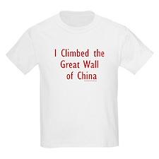 I Climbed Great Wall of China - Kids T-Shirt