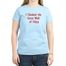 I Climbed Great Wall of China - Women's Pink T-Sh
