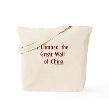 I Climbed Great Wall of China - Tote Bag