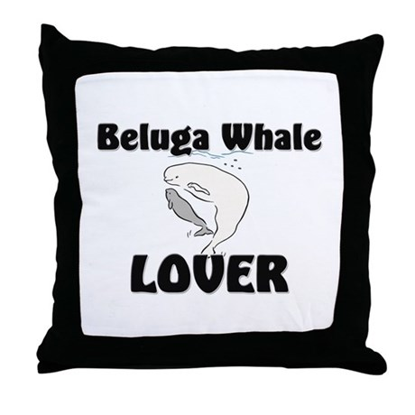 Beluga Whale Lover Throw Pillow