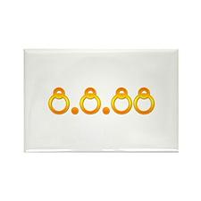 8.8.88 Golden Rings Rectangle Magnet