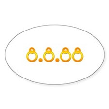 8.8.88 Golden Rings Oval Decal