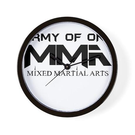 MMA Army of One Logo Wall Clock