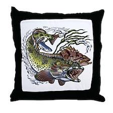 Lingcod & Rockfish Throw Pillow