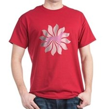 Pink Flower Greyhound T-Shirt