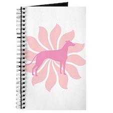 Pink Flower Greyhound Journal