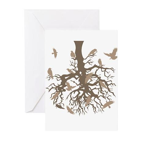 Upside Down Tree Ravens Greeting Cards (Pk of 20)