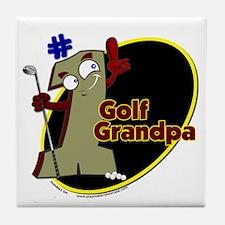 Number 1 Golf Dad Tile Coaster