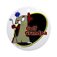 Number 1 Golf Dad Ornament (Round)