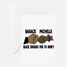 Obama & Michelle Fist Bumping Greeting Card