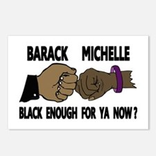 Obama & Michelle Fist Bumping Postcards (Package o