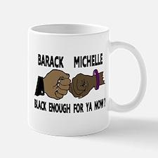 Obama & Michelle Fist Bumping Mug