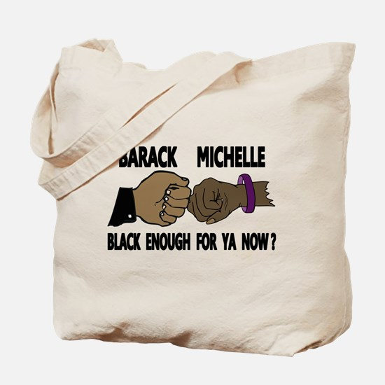 Obama & Michelle Fist Bumping Tote Bag