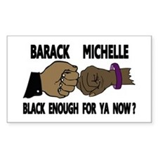 Obama & Michelle Fist Bumping Rectangle Decal